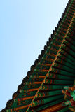 Temple detail in Changwon, South Korea. Detail of a Temple roof in Changwon, South Korea, Asia Stock Images