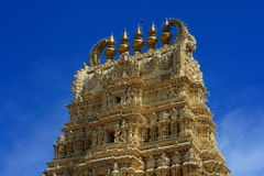 Temple detail in Mysore Stock Photo