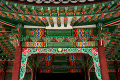 Temple detail in seoul south korea. Temple painting detail in seoul south korea Royalty Free Stock Images