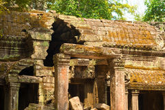 Temple deterioration Royalty Free Stock Photo