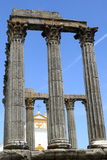 Temple of Diana. In Evora, Portugal stock photography