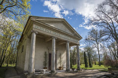 Temple of Diana in Arkadia in Poland Stock Images