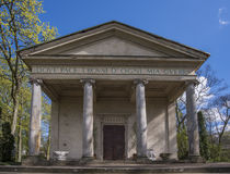 Temple of Diana in Arkadia in Poland Stock Photos