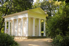 Temple of Diana in Lazienki Park. Warsaw. Poland. stock photo