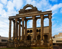 Temple of Diana. Merida, Spain Royalty Free Stock Photography