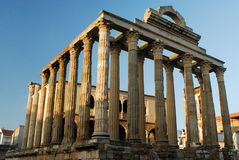 Temple of Diana in Merida, Spain Stock Image