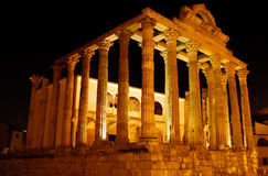 Temple of Diana in Merida, Spain Stock Images