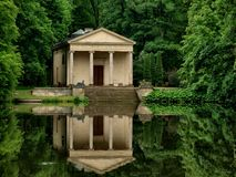 Temple of Diana. Temple of Diana from a park near Arcadia Łowicza. One of the most interesting monuments of neo-Renaissance Royalty Free Stock Photography