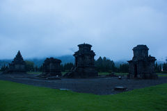 Temple at Dieng plateu in Indonesia. Temple at dieng plateu, In Indonesia at noon royalty free stock images
