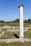 Temple of Dionysus at Dion, Greece Stock Photos