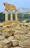 Temple of Dioscuri Stock Images