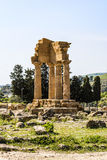 Temple of Dioscuri - Castor and Pollux - at Valley of Temples, Agrigento. Royalty Free Stock Photography