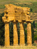 Temple of Dioscuri,Castor and Polux at Agrigento Valley of the Temple, Sicily Stock Photo