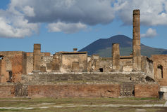 Temple District of Pompeii Stock Photo