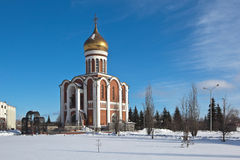 Temple of Dmitry Donskoy. Nizhny Tagil. Sverdlovsk region. Russia. Royalty Free Stock Photography