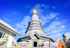 Temple at doi inthanon mountain, Chiang Mai, Thailand Stock Photo