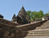 Temple Dome at  Historic Architecture of Maheshwar Stock Images