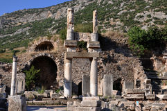 Temple of Domitian (or Sebastoi), Ephesus, Turkey Stock Photos