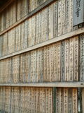 Temple Donors. Names of temple donors in Kanji on wooden boards Royalty Free Stock Photos