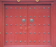 Temple door. A shot of a Chinese temple door Stock Images