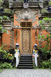 Temple door in bali indonesia Stock Images