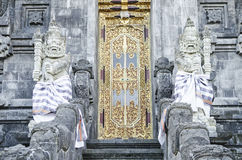 Temple door in bali indonesia Royalty Free Stock Image
