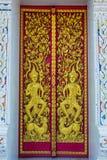 Temple door. The buddhism have temple door Royalty Free Stock Photos