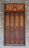 Temple door. Chinese Temple in guangzhou city Stock Images