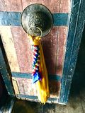 Temple Door Handle at Thiksay Monastery Royalty Free Stock Photos