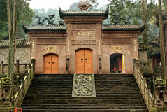 The temple door of Jinfeng temple Stock Photos