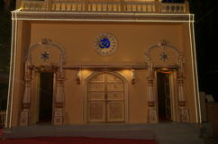 Temple door at night Stock Photography