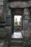 Temple Door. One of the entrance in the Prambanan Temple Royalty Free Stock Photos
