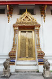 Temple. The door at thai temple Stock Images