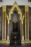 Temple door in Thai craft style Royalty Free Stock Images