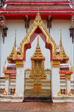 The temple door in thailand Royalty Free Stock Photo