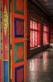 Temple door. A door to a Buddhist temple at a monastery in Ladakh province of India Royalty Free Stock Photo