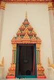 Temple door. At wat maha wana ram, Ubon Ratchathani royalty free stock photography