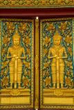 Temple doors, culture, art, Thailand, gate, golden, Buddhism. The Temple doors, culture, art, Thailand, gate, golden, Buddhism stock image