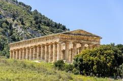 Temple dorique dans Segesta, Sicile, Italie photos stock