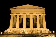 Temple dorique de Concordia à Agrigente photo stock