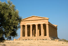 temple dorique de concordia d'Agrigente image libre de droits
