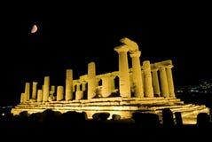 Temple dorique de Heracles à Agrigente image stock