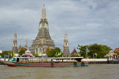 Temple Down on the Chao Phraya Royalty Free Stock Image