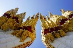 Temple. Dragon thailandtravel gold sky building Royalty Free Stock Photos