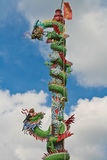 Temple Dragon01. Dragon decoration on Chinese buddhist temple in Thailand Stock Photos