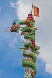 Temple Dragon02. Dragon decoration on Chinese buddhist temple in Thailand Stock Image