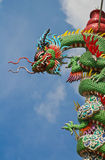 Temple Dragon03. Dragon decoration on Chinese buddhist temple in Thailand Stock Photography