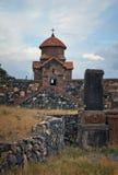 Temple du 7ème siècle, Arménie Photos stock
