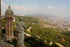 Temple du coeur sacré à Barcelone images libres de droits