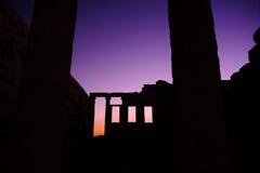 Temple du nord intérieur d'Erechtheion Photos libres de droits